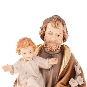 Saint Joseph with Baby Jesus and lily s4
