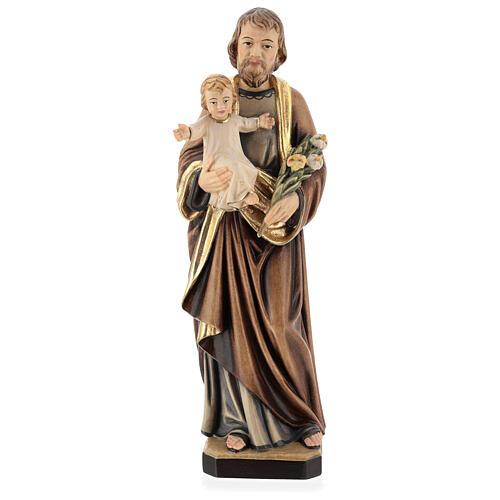 Saint Joseph with Baby Jesus and lily 1