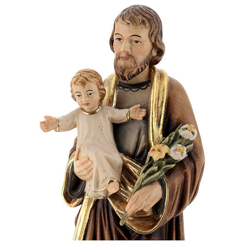 Saint Joseph with Baby Jesus and lily 2