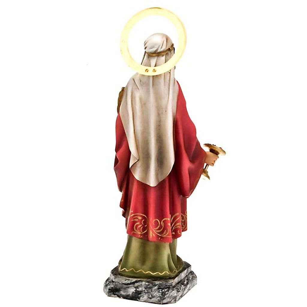 Santa Lucia 30 cm pasta di legno dec. elegante 4