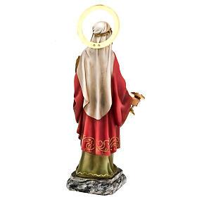 Santa Lucia 30 cm pasta di legno dec. elegante s2