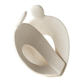 Statuetta abbraccio stilizzato a forma di cuore s2