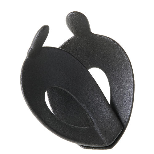Statuetta abbraccio stilizzato a forma di cuore 3