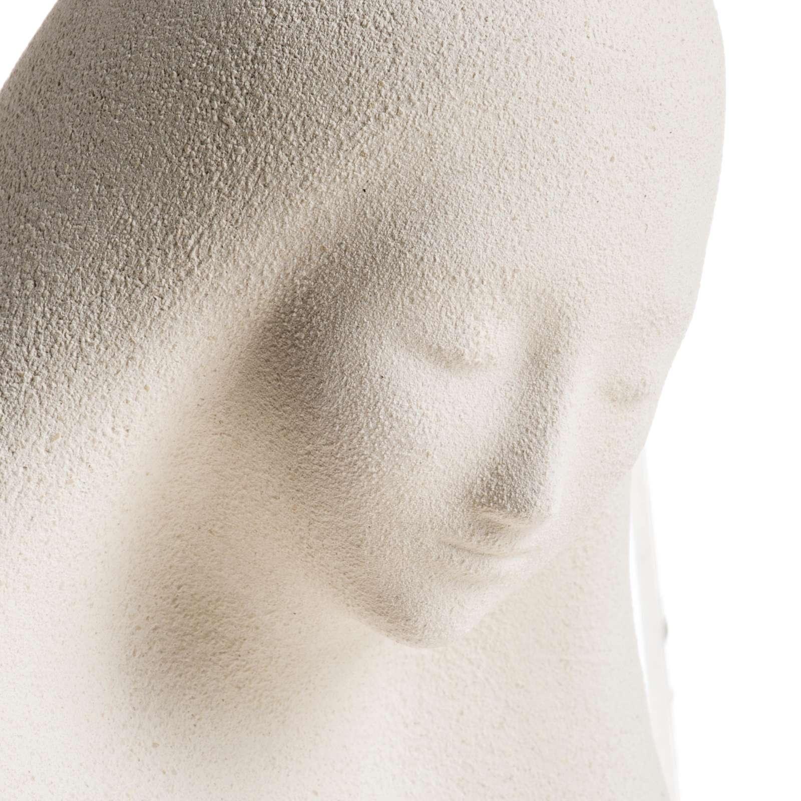 Estatua para colgar en la pared arcilla blanca Virgen de la Acogida 33cm 4