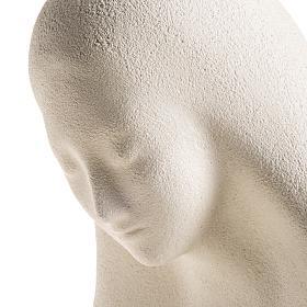Estatua para colgar en la pared arcilla blanca Virgen de la Acogida 33cm s6