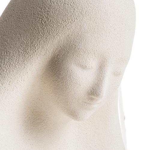 Statue argile Vierge de l'accueil 33 cm 4