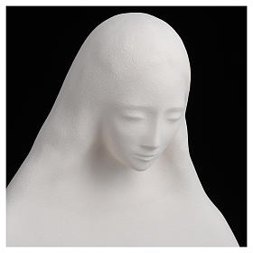 Mary with open arms in fireclay 50 cm s4
