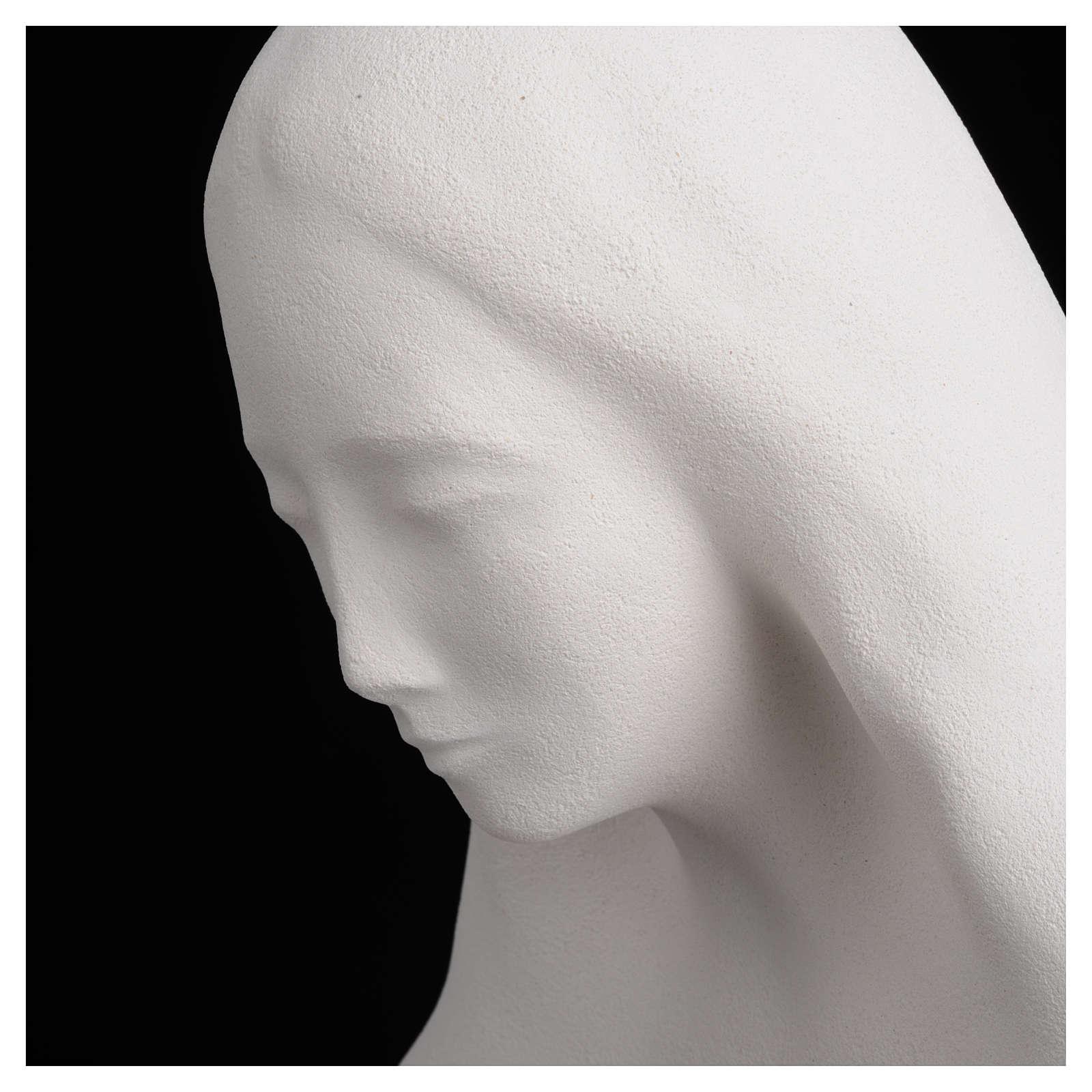 Imagem para pendurar na parede argila brnca Nossa Senhora do Acolhimento 50 cm argila 4