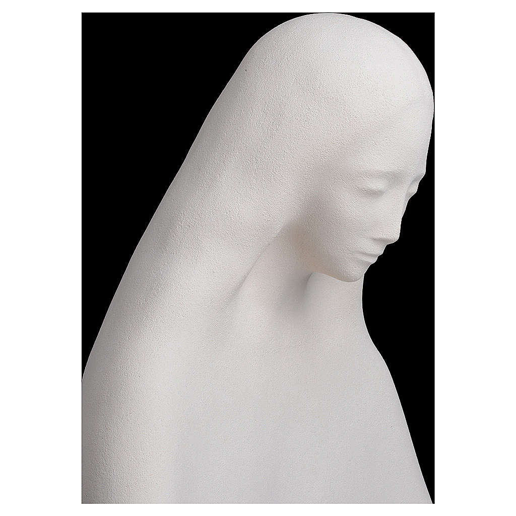 Mary with open arms in fireclay 50 cm 4