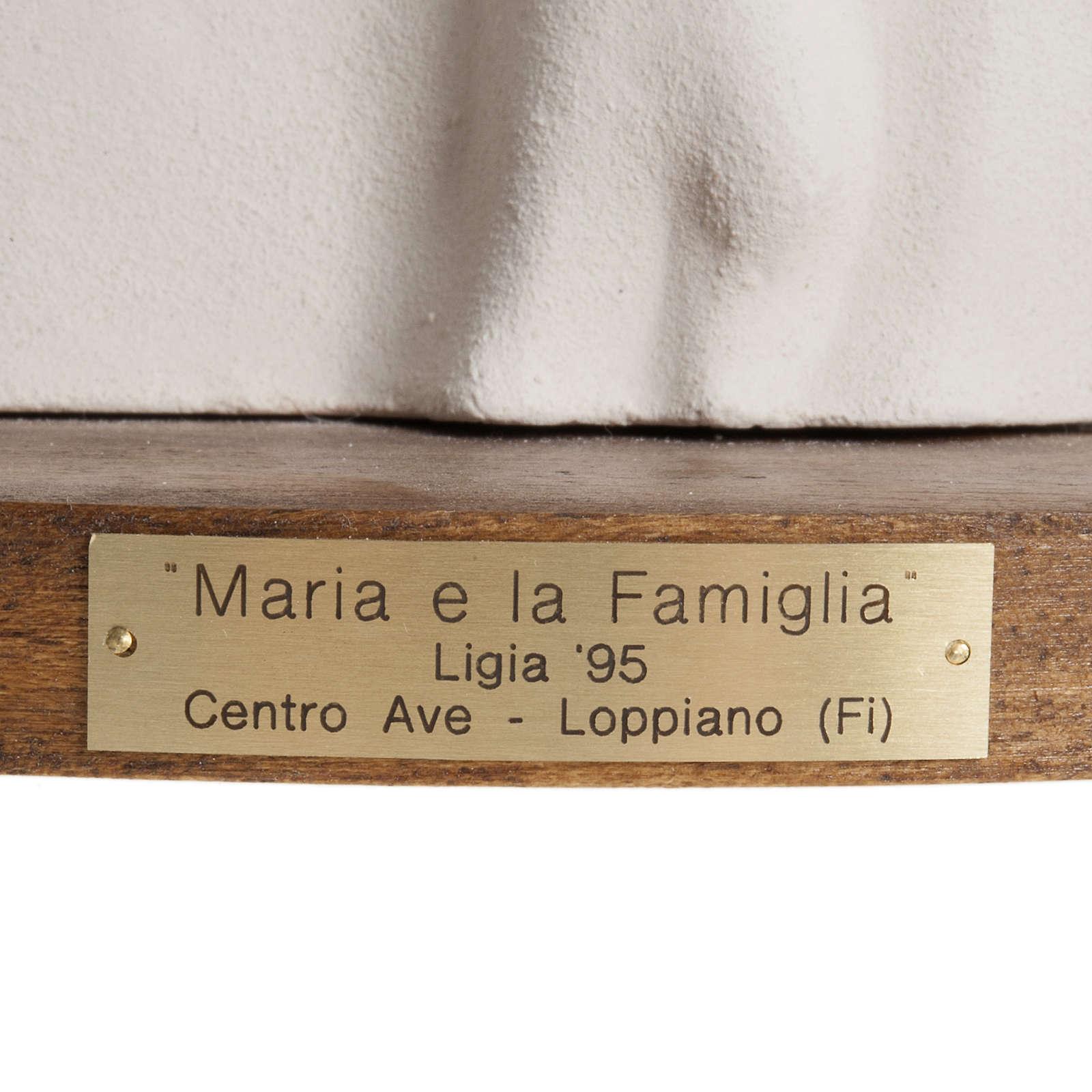 María y la Familia arcilla base de madera 18,5cm 4