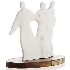 María y la Familia arcilla base de madera 18,5cm s3
