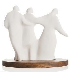 María y la Familia arcilla base de madera 18,5cm s5
