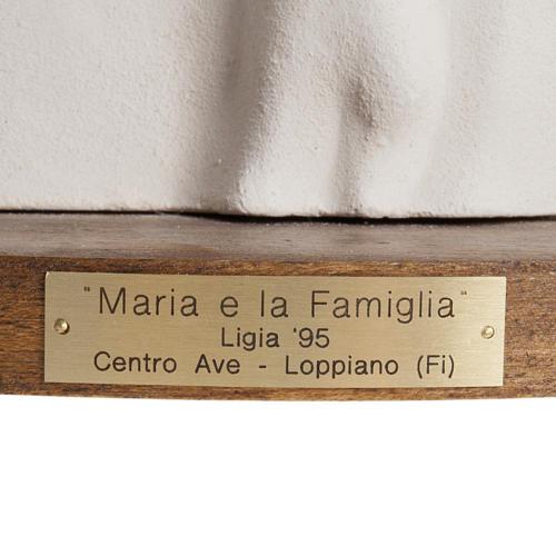 María y la Familia arcilla base de madera 18,5cm 2