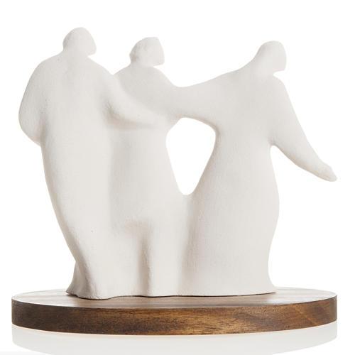 María y la Familia arcilla base de madera 18,5cm 5