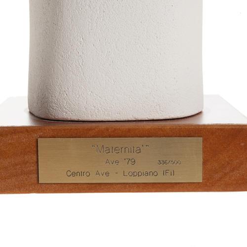 Estatua arcilla refractaria Maternidad estilizada 27cm 2