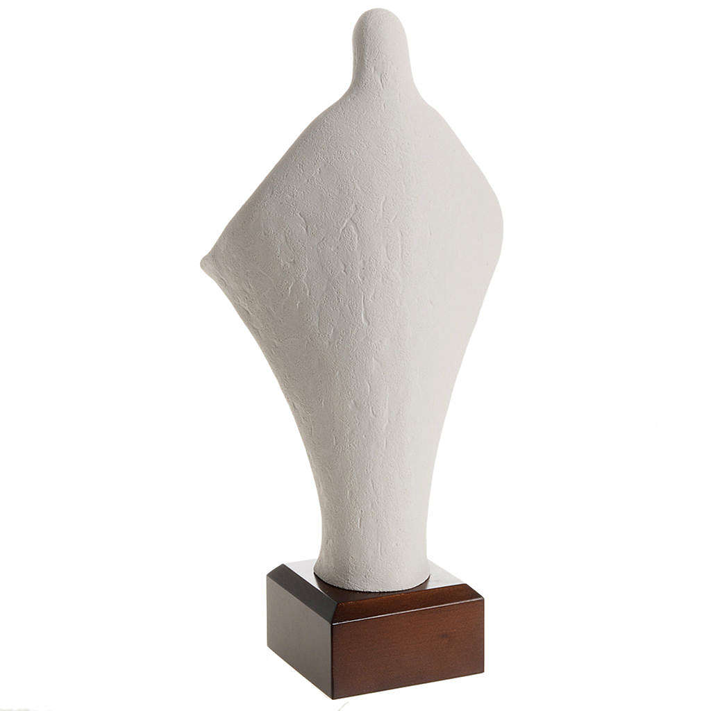 Estatua arcilla María Iglesia sobre base 36cm 4