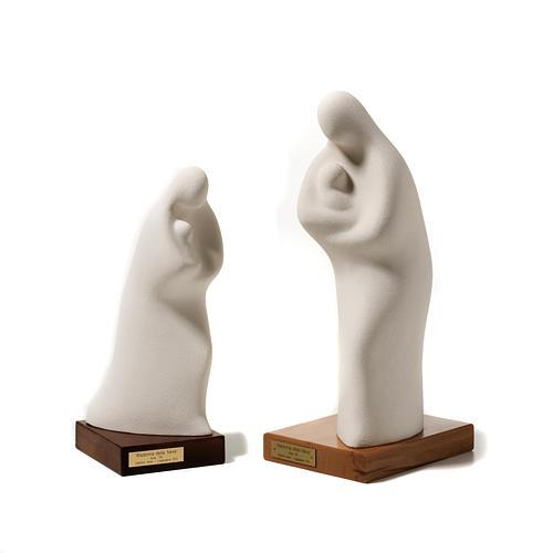 Statua Madonna della neve argilla su base 1