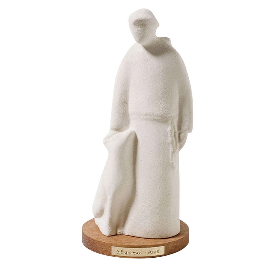 Święty Franciszek figurka z szamotu 4