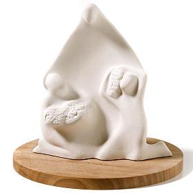 Virgen del Trabajo arcilla y base 20,5cm s1