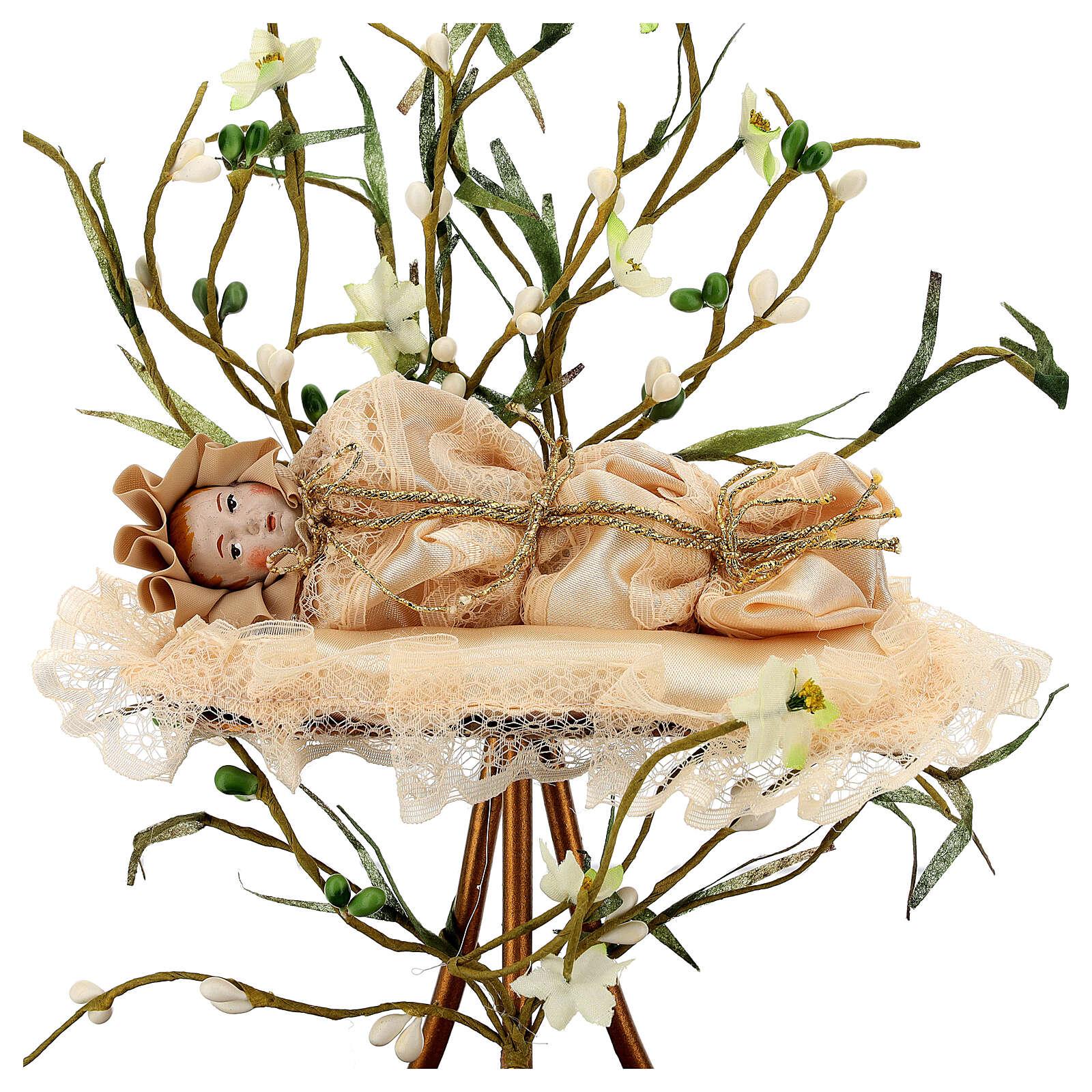 Petite fille Très Sainte Marie 18 cm sous cloche 4