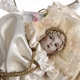 Maria bambina statua terracotta cm 18 campana di vetro 35X25 s5