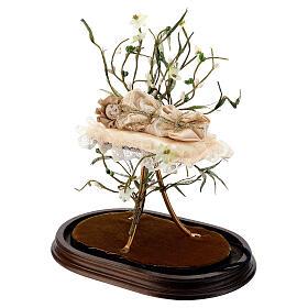Maria bambina statua terracotta cm 18 campana di vetro 35X25 s4