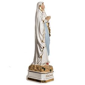 Virgen de Lourdes 50cm cerámica decorada oro s5