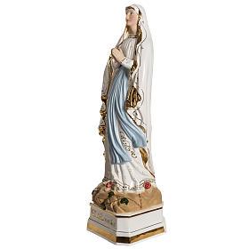 Virgen de Lourdes 50cm cerámica decorada oro s6