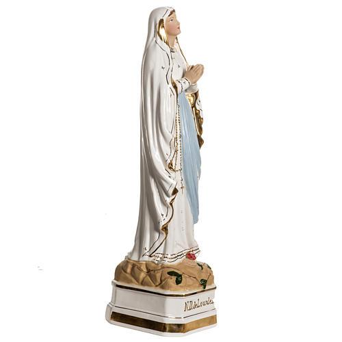 Virgen de Lourdes 50cm cerámica decorada oro 5