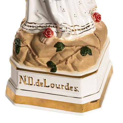 Notre Dame de Lourdes 50 cm céramique décors or 4