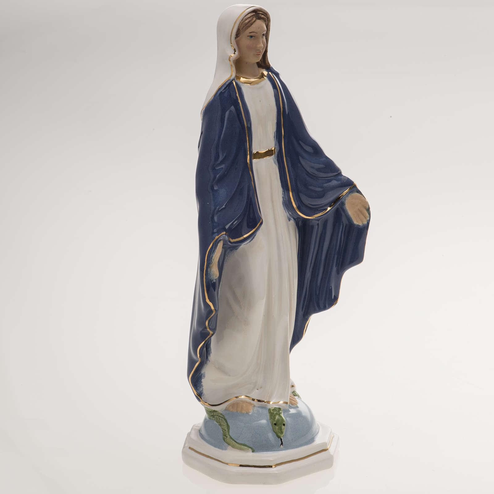 Ceramic statue, Miraculous Madonna 18.5cm 4