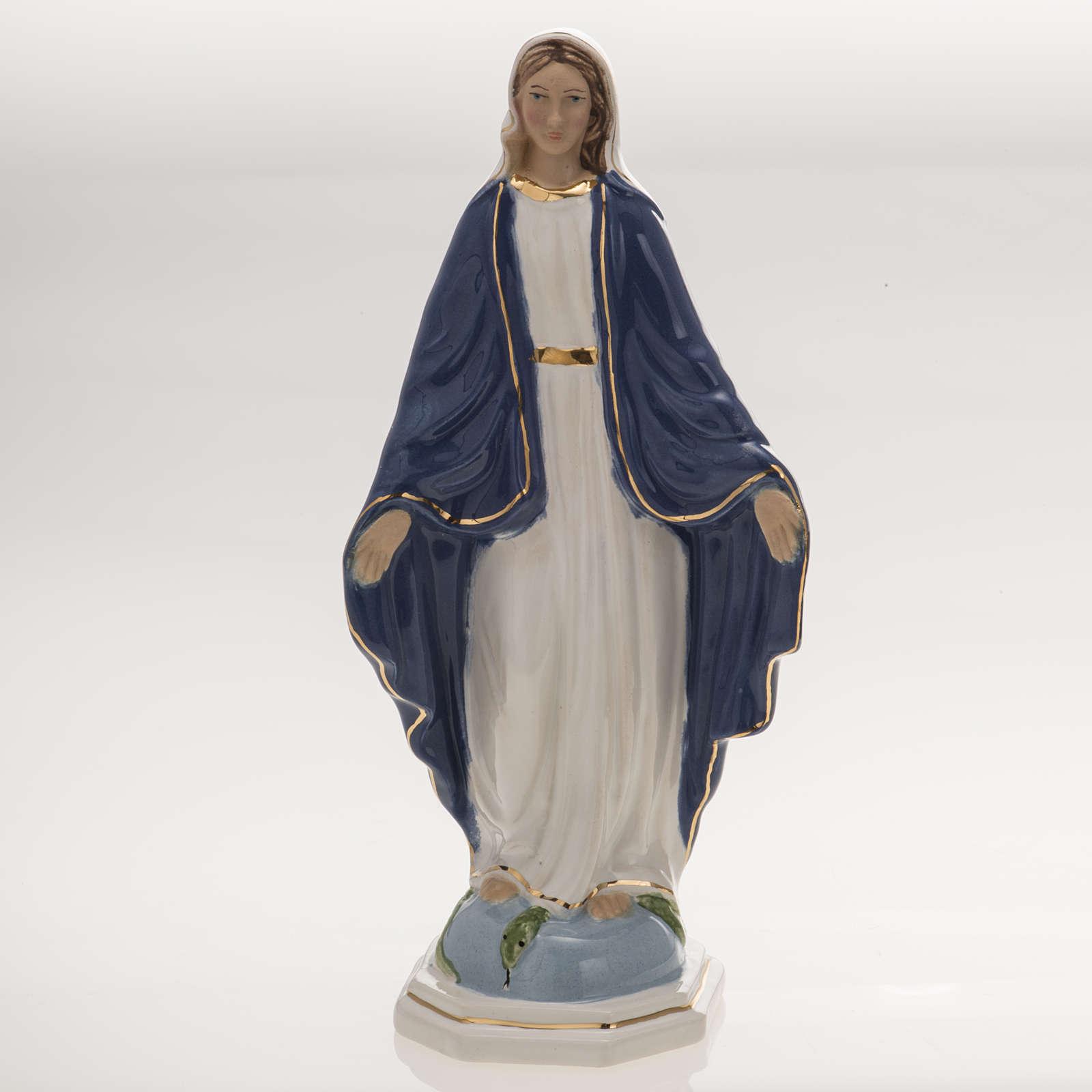 Estatua Virgen Milagrosa 18,5 cm cerámica 4