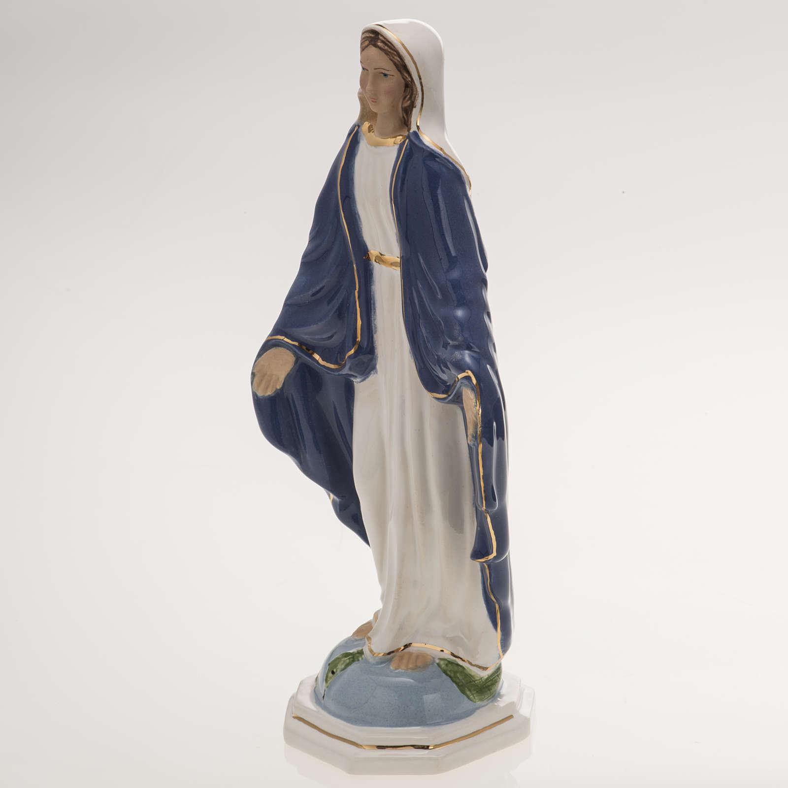 Statue Vierge Miraculeuse 18,5 cm céramique 4