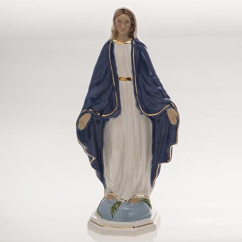 Statua Madonna Miracolosa 18,5 cm ceramica 1