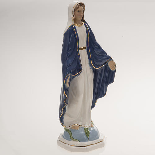 Statua Madonna Miracolosa 18,5 cm ceramica 2