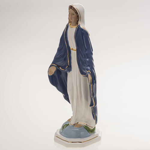 Statua Madonna Miracolosa 18,5 cm ceramica 3