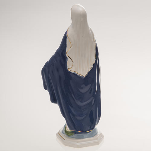 Statua Madonna Miracolosa 18,5 cm ceramica 4