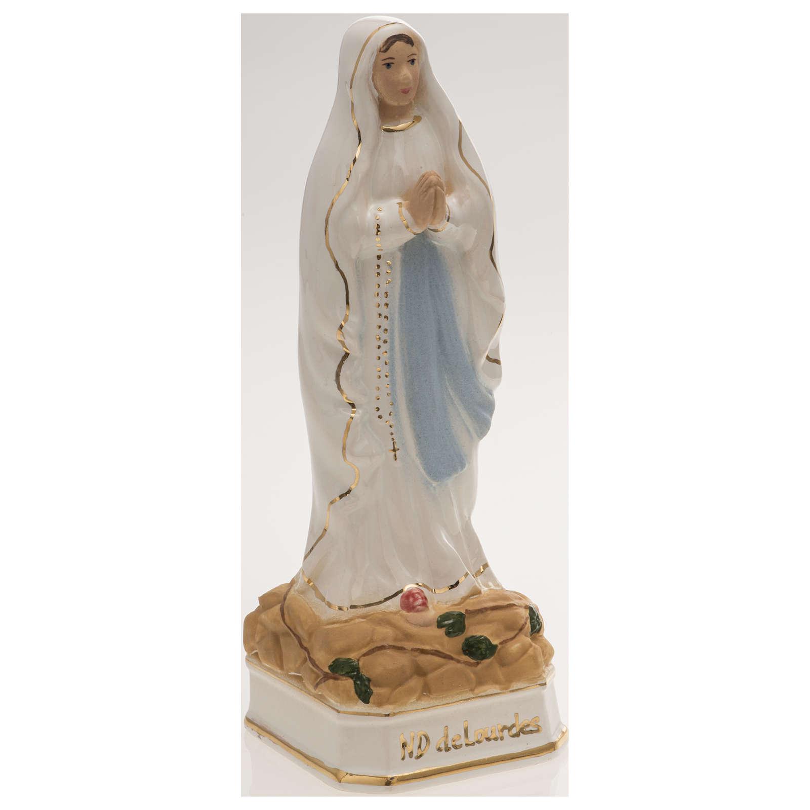 Statua Madonna di Lourdes 16 cm ceramica 4