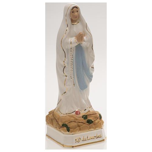 Statua Madonna di Lourdes 16 cm ceramica 2
