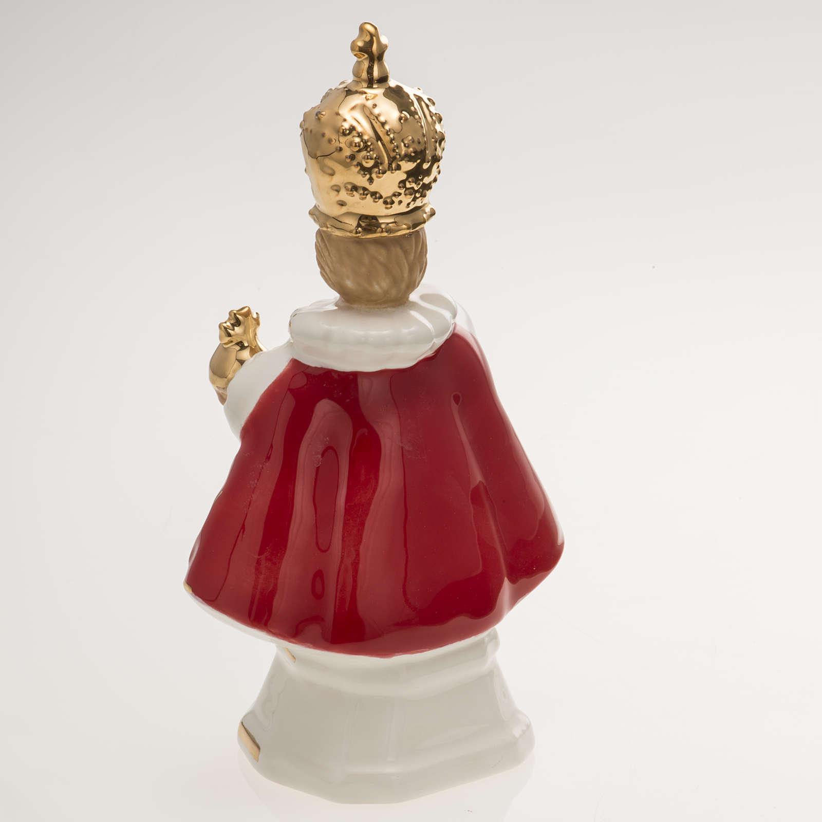 Gesù Bambino di Praga ceramica 16 cm 4