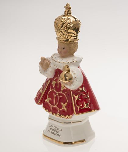 Gesù Bambino di Praga ceramica 16 cm 3