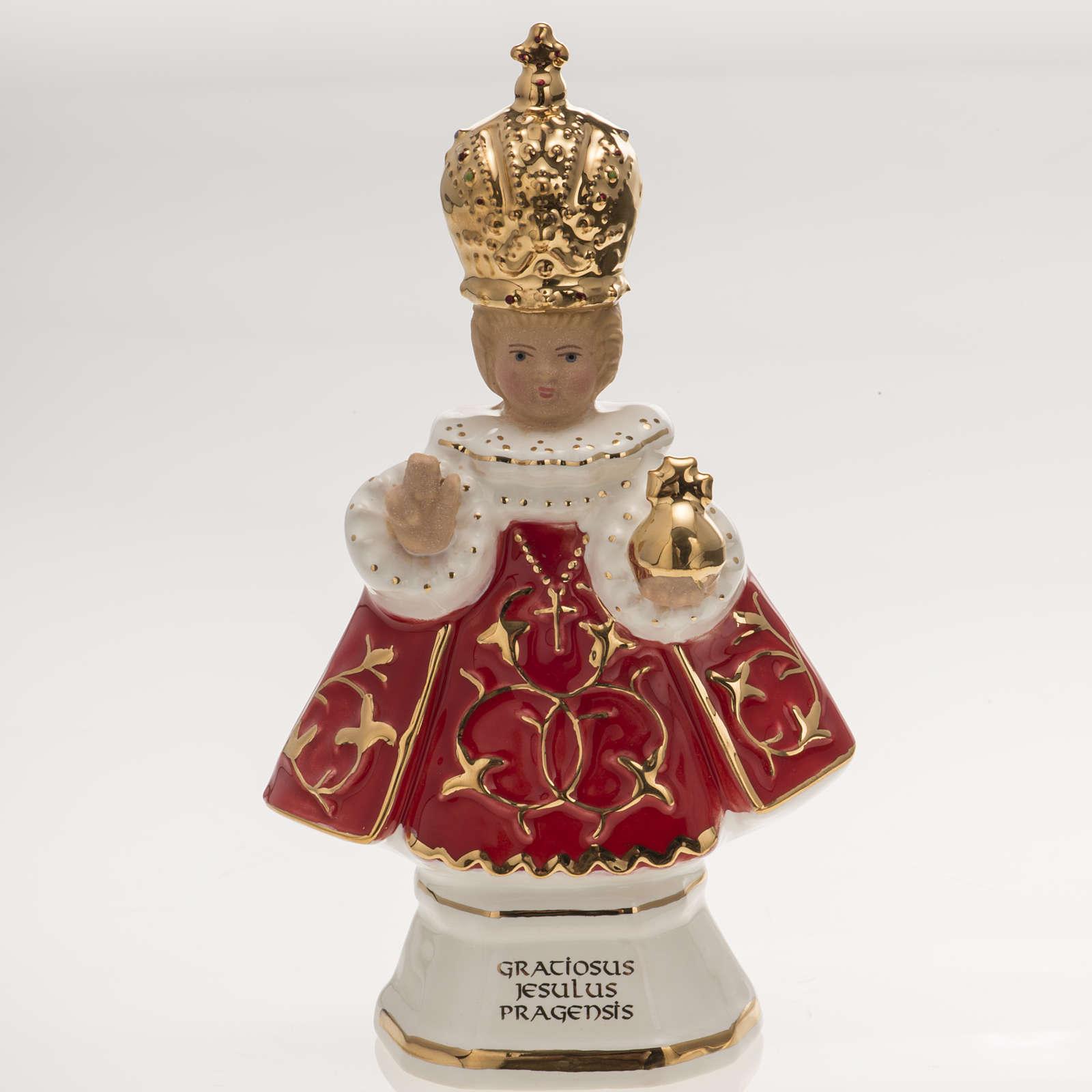 Menino Jesus de Praga cerâmica 16 cm 4
