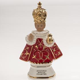 Menino Jesus de Praga cerâmica 16 cm s1