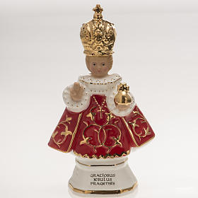 Porcelain and fireclay statues: Baby Jesus of Prague ceramic statue 16cm