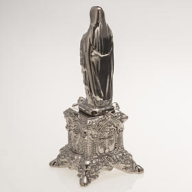Ceramic statue, platinum colour, Sacred Heart of Mary on throne s4