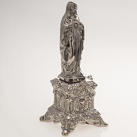 Imagem cerâmica platina Coração Sagrado de Maria com suporte s2