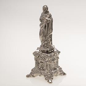Statue Sacré Coeur sur trône céramique platine s3