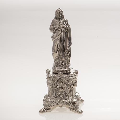 Statue Sacré Coeur sur trône céramique platine 1