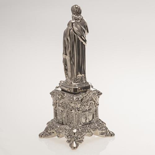 Statue Sacré Coeur sur trône céramique platine 4