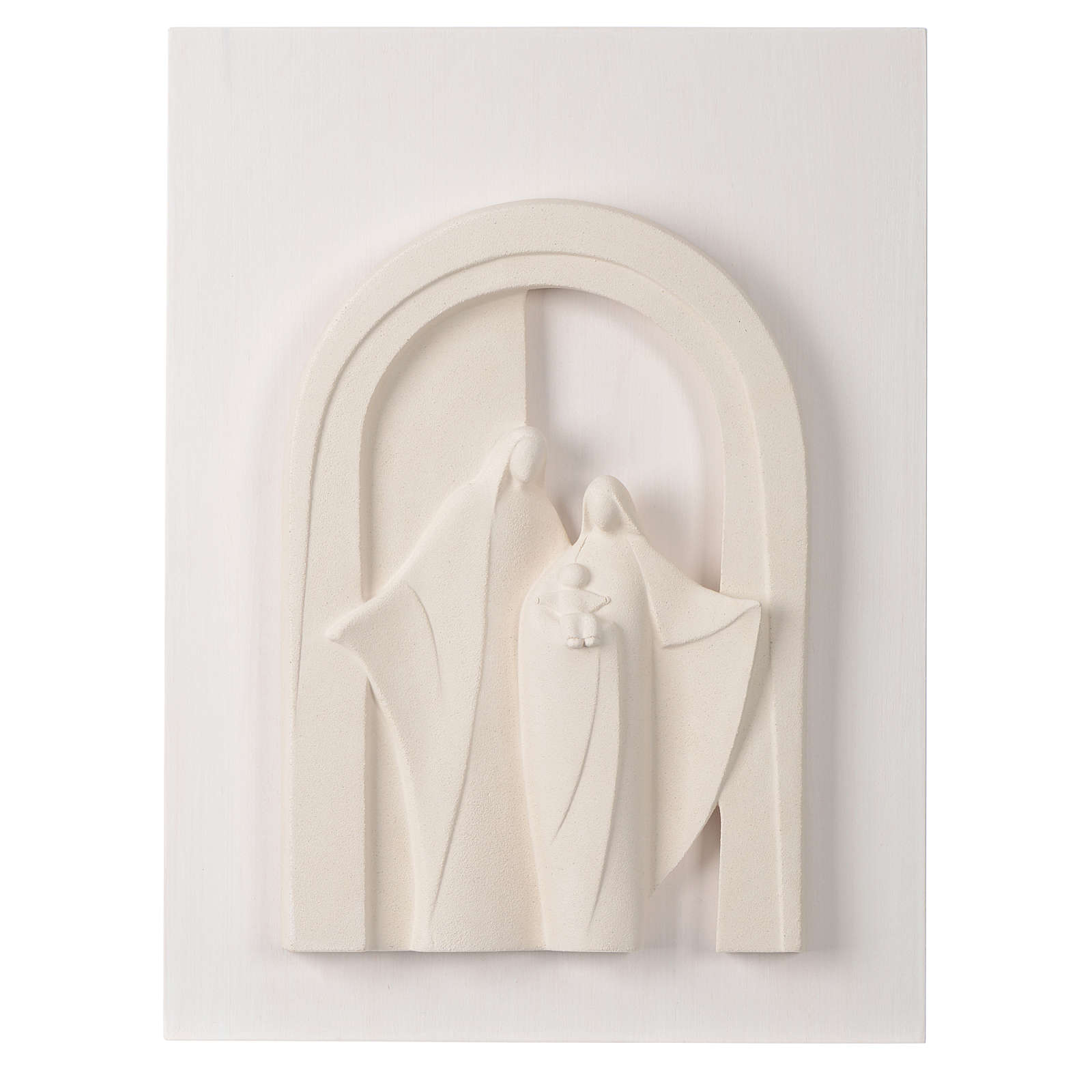 Holy Family wooden porch in clay Centro Ave 40,5 cm 4